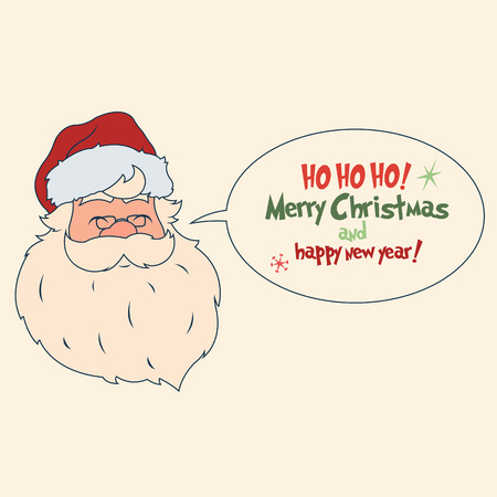 Vintage hand drawing style of santa claus. vector illustration