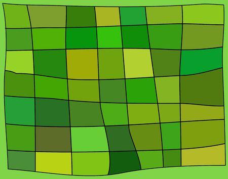 contoured: Un fondo verde con contornos distintos tonos de verde rect�ngulos vector  Vectores