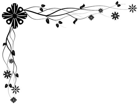 Vectorized floral corner design element, you can resize and color as you wish the file Vector