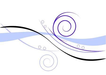 Blue wave background vector illustration Vector