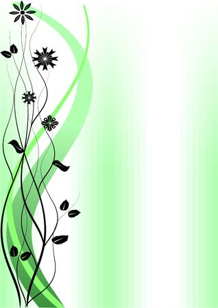 Green abstract floral background and a place for your text Vector