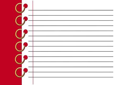 cuaderno espiral: Rojo espiral archivo