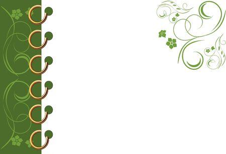 cuaderno espiral: Cuaderno verde espiral de la p�gina Vectores