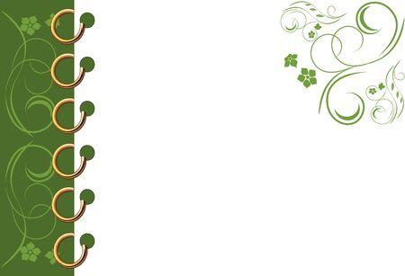 Green spiral notebook page Stock Vector - 4324444
