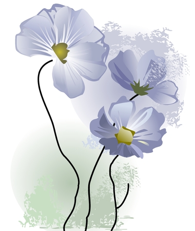 Delicate flowers pastel Stock Vector - 4551608