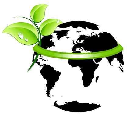 Ecology planet icon Stock Vector - 4683899
