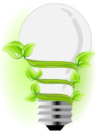 Ecology light bulb Vector