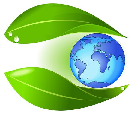 Nature protect earth Vector