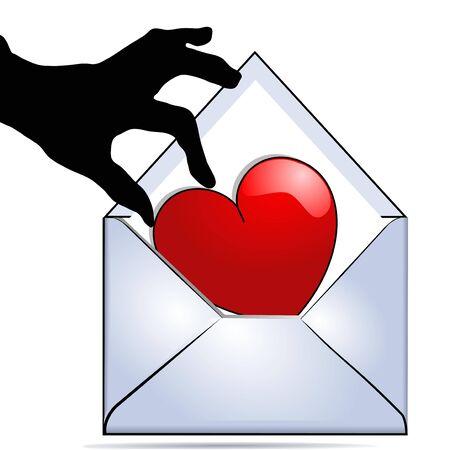 Love message Vector