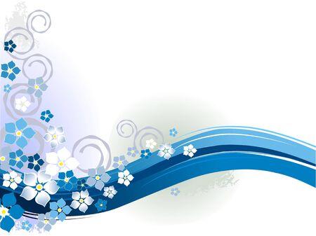 Blue floral season Stock Vector - 4843465