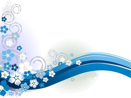 fantasia: Blue floral season