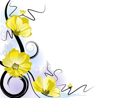 vector flowers: Summer blossom background