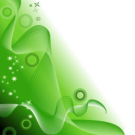 Green abstract background Stock Vector - 5095305