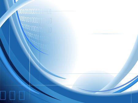 digital wave: Resumen olas azules dise�o Vectores