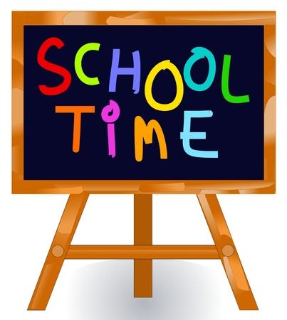School time message blackboard Stock Vector - 5457211