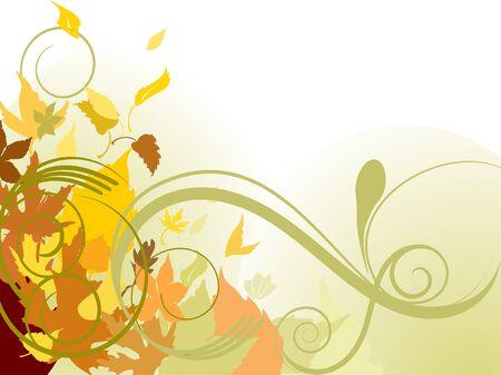 macro leaf: Autumn falling leaves Illustration