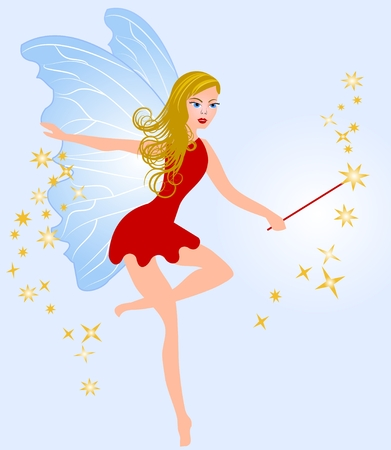 Fairy and her charming wand Vector