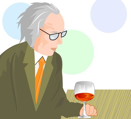 intoxicated: Lonely old man drinking