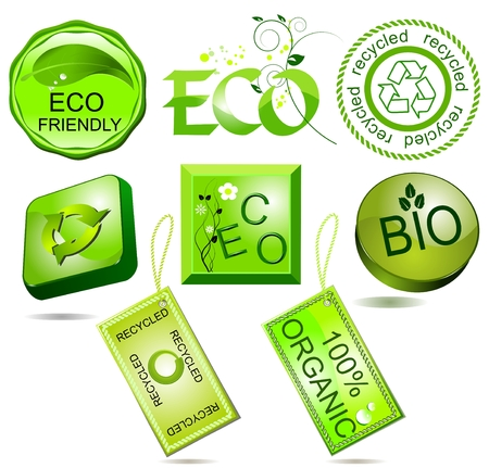 Bio and eco labels Stock Vector - 5839715