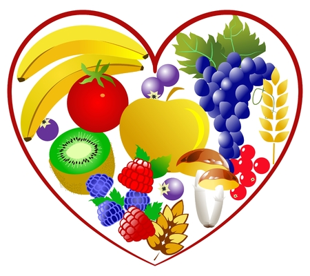 Bio food, healthy heart Stock Vector - 5839716