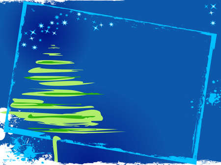 Stylized image of Christmas night Vector