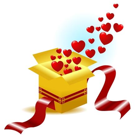 The golden gift of love Vector