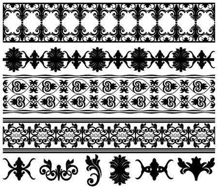 Vector borders and design elements Stock Vector - 6173325