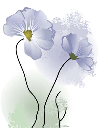 Delicate blue spring flowers  Vector