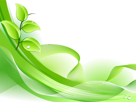 Spring fresh plant background Vector