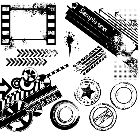 Grunge design elements collection Stock Vector - 6327632