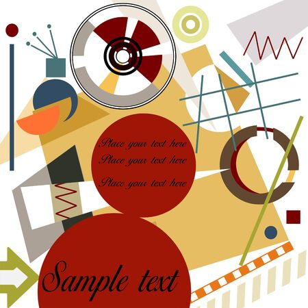 cubismo: Fondo geom�trico abstracto; estilo de Kandinsky de Master