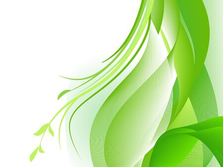 Green abstract design with plants Stock Vector - 6384964