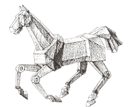 cavalry: Mechanical horse sketch