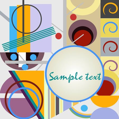 Abstract geometrical background in bright colors Stock Vector - 6459825