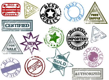 approve icon: Grunge rubber stamps