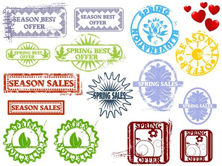 Rubber stamps: spring seasonal sales info