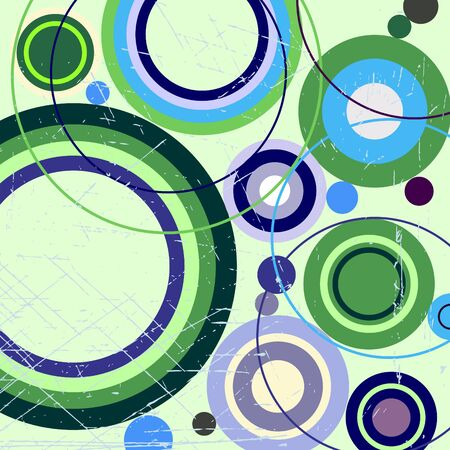 Grungy abstract background with circles Vector