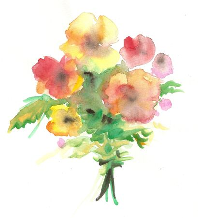 hand colored: Watercolor bouquet