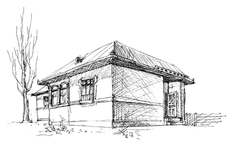 roof line: Esbozo de la casa