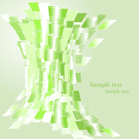 Abstract green squares background Stock Vector - 6564739