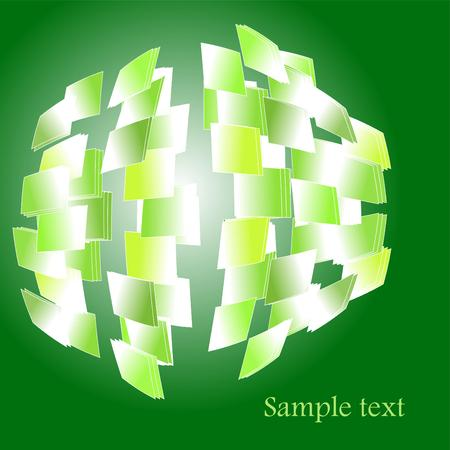 Abstract fragmented sphere background Stock Vector - 6564737