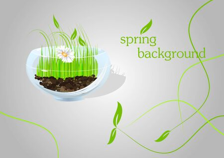 Nature background; healthy life style concept Stock Vector - 6660531