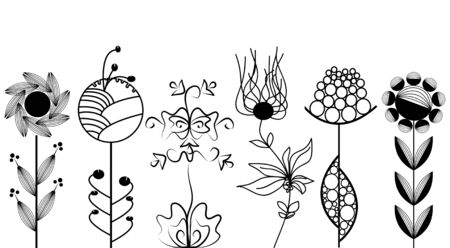 Artistic flowers set Stock Vector - 6660530