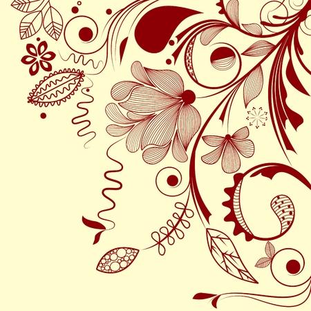esquineros florales: Floral de esquina de vector Vectores