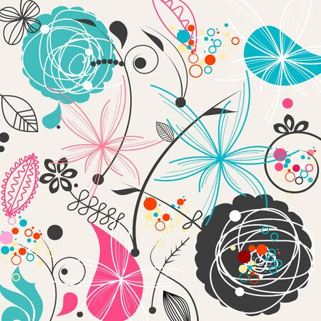 Retro floral seamless pattern Stock Vector - 6836116