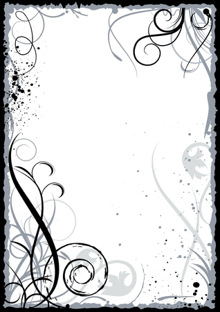 Grunge frame. Shapes grouped by color for easy edit Stock Vector - 6836120