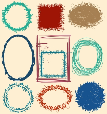 Grunge frames. Grouped, easy to change color Vector