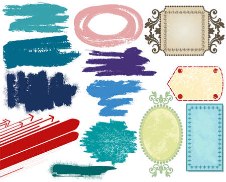 Grunge banners and brushes Stock Vector - 6940231