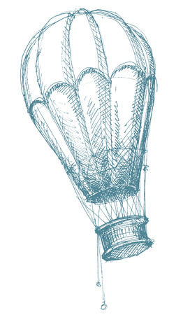 air sport: Hot air balloon sketch