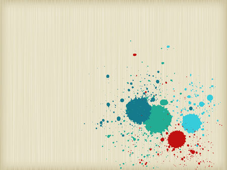 Colorful splats background Vector